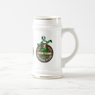 Fun bog trotter Irish pub Beer Stein