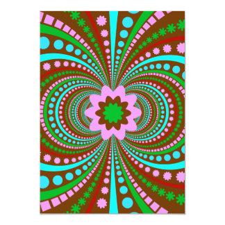 Fun Bold Pattern Brown Pink Teal Crazy Design Card