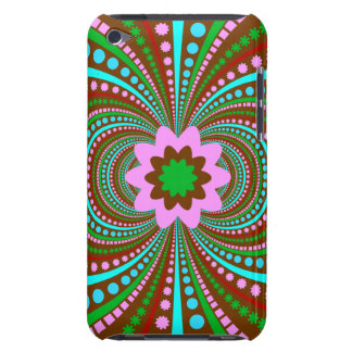 Fun Bold Pattern Brown Pink Teal Crazy Design Barely There iPod Case