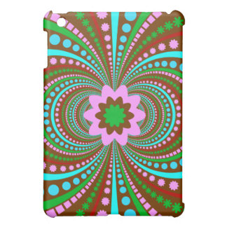 Fun Bold Pattern Brown Pink Teal Crazy Design Case For The iPad Mini