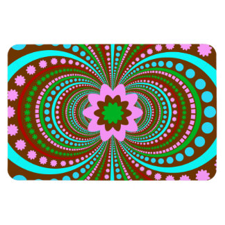 Fun Bold Pattern Brown Pink Teal Crazy Design Magnet