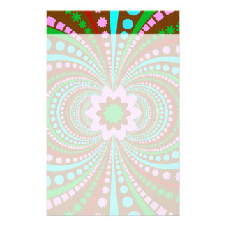 Fun Bold Pattern Brown Pink Teal Crazy Design Stationery