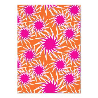 Fun Bold Spiraling Wheels Hot Pink Orange Pattern Card