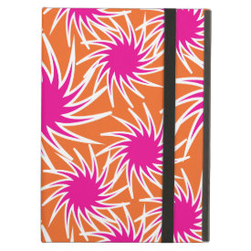 Fun Bold Spiraling Wheels Hot Pink Orange Pattern iPad Folio Cases