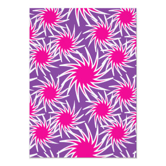 Fun Bold Spiraling Wheels Hot Pink Purple Pattern Card