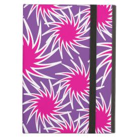 Fun Bold Spiraling Wheels Hot Pink Purple Pattern iPad Folio Case