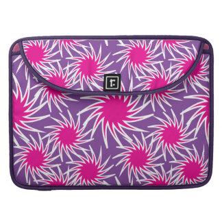 Fun Bold Spiraling Wheels Hot Pink Purple Pattern Sleeve For MacBook Pro