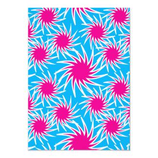Fun Bold Spiraling Wheels Hot Pink Teal Pattern Card