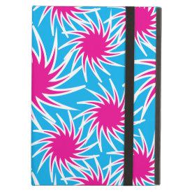 Fun Bold Spiraling Wheels Hot Pink Teal Pattern iPad Covers