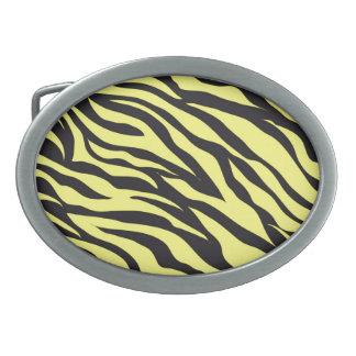 Fun Bold Yellow Zebra Stripes Wild Animal Print Belt Buckle
