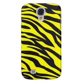 Fun Bold Yellow Zebra Stripes Wild Animal Print Galaxy S4 Cover