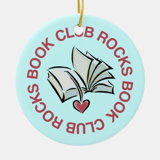 Fun Book Club Rocks Reading Ornament Gift