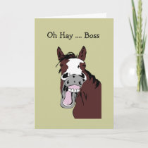 Fun Boss Birthday Great Day to Horse Around Card