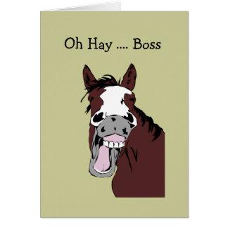 Fun Boss Birthday Great Day to Horse Around Card