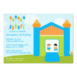 Fun bounce house boys birthday party invitation