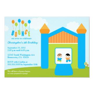 "Fun bounce house boys birthday party invitation 5"" x 7"" invitation card"