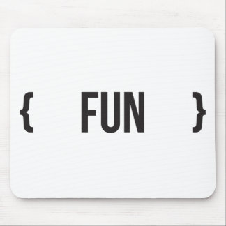 Fun - Bracketed - Black and White Mouse Pad