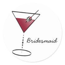 Fun Bridesmaid Favors Classic Round Sticker