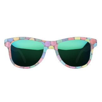 Fun Bright Crayon Polka Dot Sunglasses