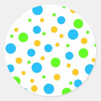 Fun Bright Dots Classic Round Sticker