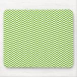 Fun Bright Green Chevron Pattern Mouse Pads