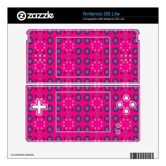 Fun Bright Pink Dots DS Lite Decals