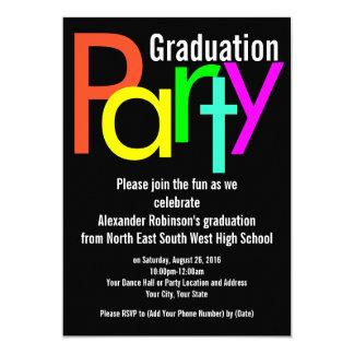Fun Brights Graduation Party Invitation