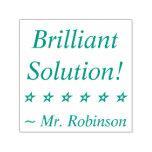 "[ Thumbnail: Fun ""Brilliant Solution!"" Tutor Rubber Stamp ]"
