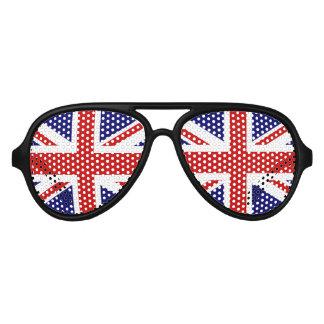 Fun British flag party glasses | Union Jack shades Aviator Sunglasses