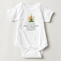 Fun British Royal Wedding souvenir kids outfit Baby Bodysuit