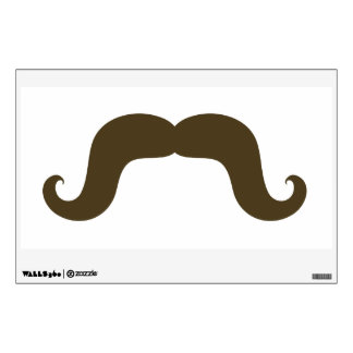 FUN BROWN MUSTACHE WALL DECAL