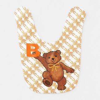 Fun Brown Teddy Bears With Orange Bows