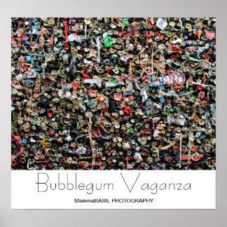 Fun Bubblegum Vaganza Poster! Poster