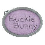 Fun Buckle Bunny Oval Belt Buckle