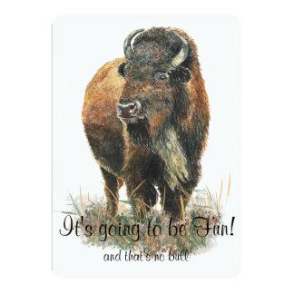 Fun Buffalo Bison Wildlife Animal Park Celebration Card