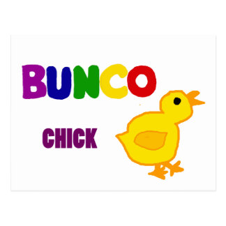 Fun Bunco Chick Art Postcard