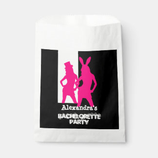 Fun bunny girl personalized bachelorette party favor bag