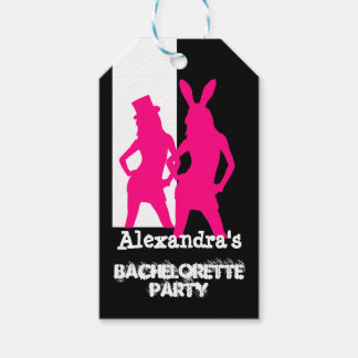Fun bunny girl personalized bachelorette party pack of gift tags