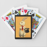 "Fun Bunny Rabbit Magic Act Design Playing Cards<br><div class=""desc"">Cute old bunny rabbit performing the hat trick.. cards for a Magician&#39;s Act .. deck of playing cards.. great for a gift or for yourself.  By using the CUSTOMIZE IT option,  you can personalize these cards with a name or a magician&#39;s saying..!  Enjoy Life &amp; Thanks For Stopping By!</div>"