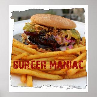 Fun Burger Maniac Poster! Poster