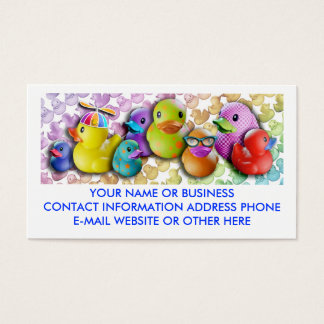 Fun Business Cards with Rubber Duckies