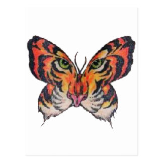 fun butterfly tiger postcard