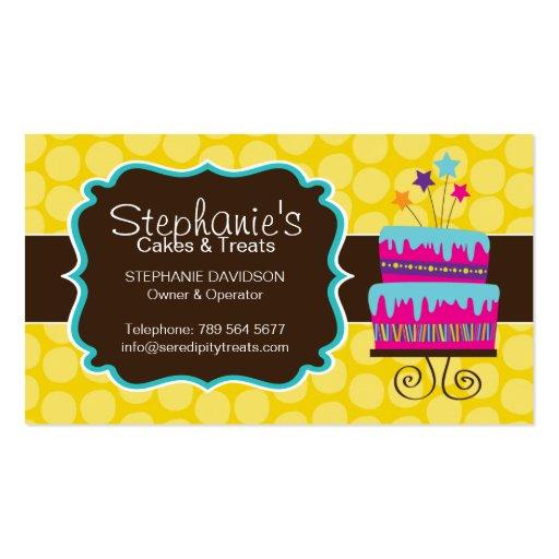 Fun Cake Bakery Business Card