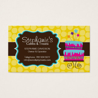 Fun Cake Bakery Business Card