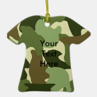 Fun Camouflage T-shirt Hanging Ornaments
