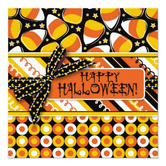 Fun Candy Corn Halloween colors Card