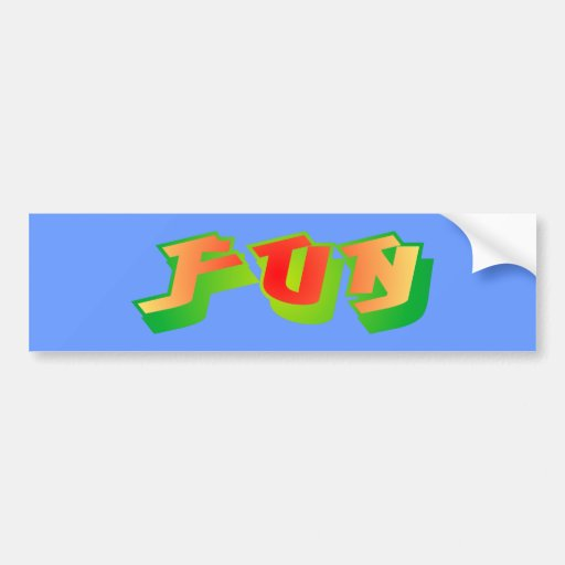 fun car bumper sticker