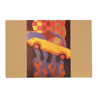Fun car design placemat