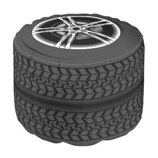 Fun car tires, pouf