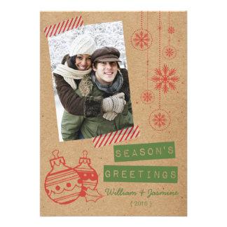 Fun Cardboard Candy Tape Holiday Flat Card